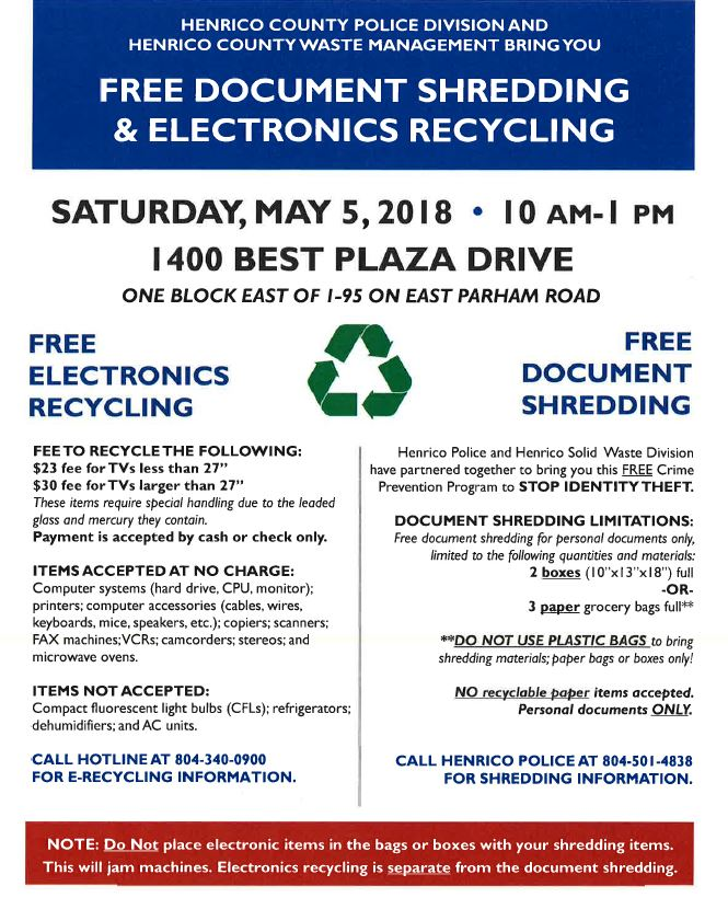 2018 Cvwma Recycling Collection Schedule