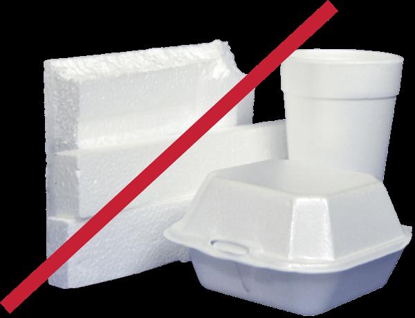 no styrofoam